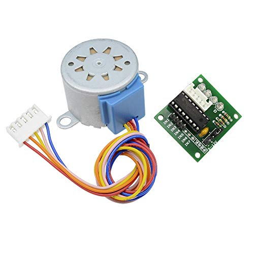 Moteur électrique Smart Electronics 28BYJ-48 12V 4 Phase DC Vitesse Stepper Motor + ULN2003 Pilote Conseil for kit DIY (Shaft Diameter : 28BYJ 48 and ULN2003)