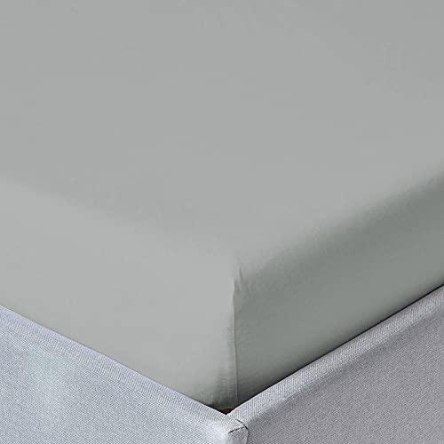 Sabanalia - Bajera Ajustable Combina (Disponible en Varios tamaños y Colores), Cama 80 - 80 x 200, Gris Claro