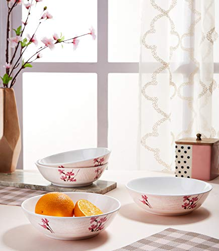Amazon Brand - Solimo Classico Set of 2 Melamine Serving Bowls (7.5 inches)