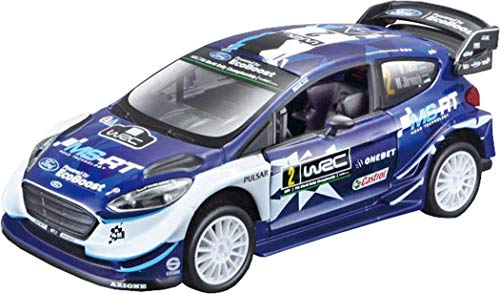 Bburago-1:32 Race Ford GT Fiesta RS WRC-Temporada 2017 (#2 Tanak), Color Azul, (B18-41052)