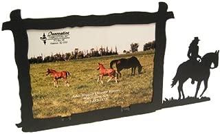 Innovative Fabricators, Inc. Female Horse Back Rider 5X7 Horizontal Picture Frame
