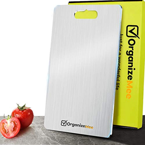 Stainless Steel 304 Fruit Chopping Cutting Board for Kitchen, Kitchen...