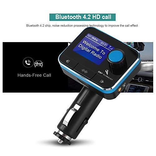 Wendry Car DAB-ontvanger, digitale radio-tuner, ontvanger, FM-zender voor voertuigen, auto bluetooth-speler, ondersteuning voor U Disk TF-kaart