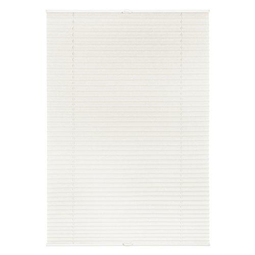 Lichtblick Plissee Klemmfix ohne Bohren, 120 cm x 130 cm (B x L) in Weiß, Sicht- und Sonnenschutz, lichtdurchlässig & Blickdicht