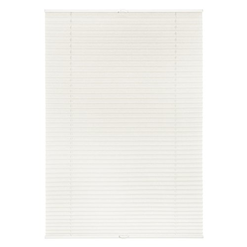 Lichtblick Plissee Klemmfix ohne Bohren, 80 cm x 130 cm (B x L) in Weiß, Sicht- und Sonnenschutz, lichtdurchlässig & Blickdicht