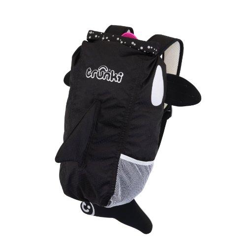 Trunki Paddlepak Rucksack, Motiv Back Pack–wasserabweisend Kids Rucksack (Kaito), schwarz