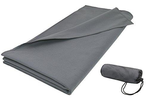 ZOLLNER Asciugamano in Microfibra per Sport, 90x180 cm, Antracite, Tanti Colori
