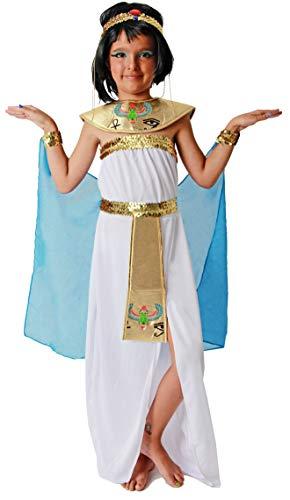 Gojoy shop- Disfraz de Egipcia para Niñas Carnaval (Contiene Diadema, Vestido, Cinturón, Pareo, 4 Tallas Diferentes) (3-4 años)