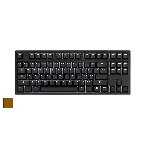 Code V3 Beleuchtete mechanische Tastatur mit 87 Tasten – weiße LED-Hintergrundbeleuchtung, schwarzes Gehäuse (Cherry MX Brown)