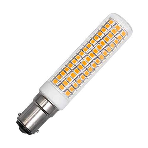 ZHENMING B15D LED 230V Warmweiß Designer Stehlampe 7.5W Ersatz 120W 100W 70W Halogen 1150LM 3000K Nicht Dimmbar Clear Glas Leuchtmittel Glühlampen, 1er Pack [MEHRWEG]