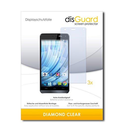 disGuard 3 x Schutzfolie Wiko Getaway Bildschirmschutz Folie DiamondClear unsichtbar