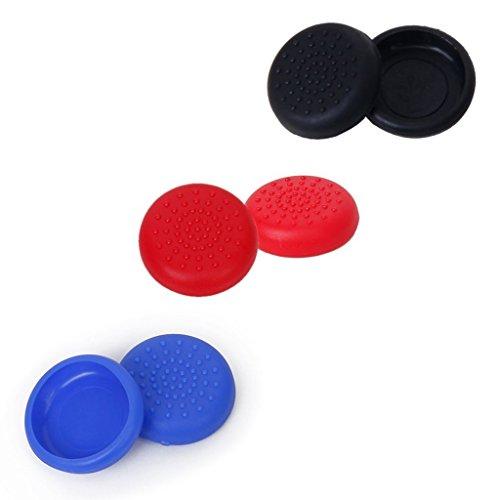 Demarkt Joystick Thumbstick cap opzetstukken beschermkap gemaakt van siliconen voor PS3 / PS4 / Xbox 360 / Xbox One/WII game controller (2X zwart, 2X rood, 2X blauw, 2X wit)