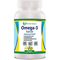 Whole Nature 1500mg Omega 3 Fish Oil Supplements