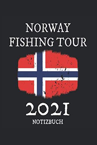 Notizbuch: Norwegen Angeln 2021 Notizbuch für den nächsten Urlaub. l Eintragen von Notizen, Terminen, Aufgaben & Ideen l ca DINA5 I ca 120 Seiten liniert l