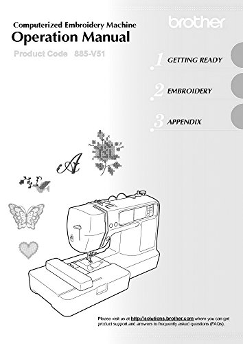 Brother PE500 Embroidery Machine Owners Instruction Manual [Plastic Comb] There and Back