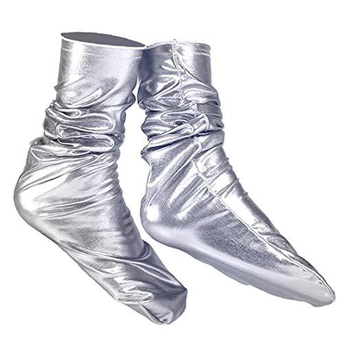Aisoway Holographic Socken Reflective Solid Color Soxs Shiny Metallic socking für Männer Frauen 1 Paar