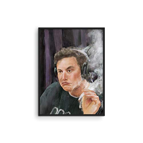 "HAUS AND HUES Elon Musk Posters for College Dorm Trippy Room Decor and Cool Posters for Guys | Funny College Posters for Guys, Cool Posters for Guys Bedroom | Unframed, 12"" x 16"""