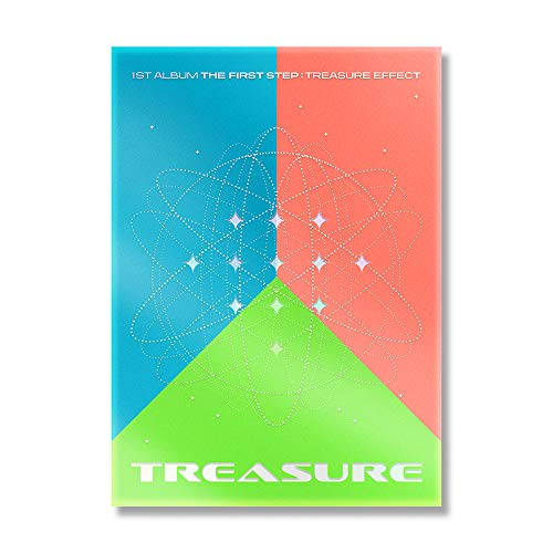 MUSIC & NEW Treasure - The First Step : Treasure Effect (Vol.1) Album+Pre-Order Benefit+Double-Side Folded Poster+Extra Photocards Set (Blue ver.)