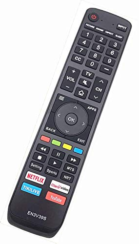 EN3V39S Replacement Remote Control for Sharp 4K Smart TV LC-50Q7030U LC-55Q7030U LC-43Q7000U LC-43Q7020U LC-43Q7050U LC-43Q7060U LC-43Q7070U LC-43Q7000U LC-43Q7080U LC-50Q7000U LC-50Q7020U 60H6080E