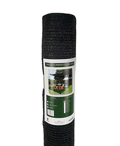 Seinec Malla sombreadora 90% Verde Oscuro. 10m² (1 x 10m). Resistente a Rayos UV Vallas, Balcones,terrazas. Aporta Sombra a tu jardín.