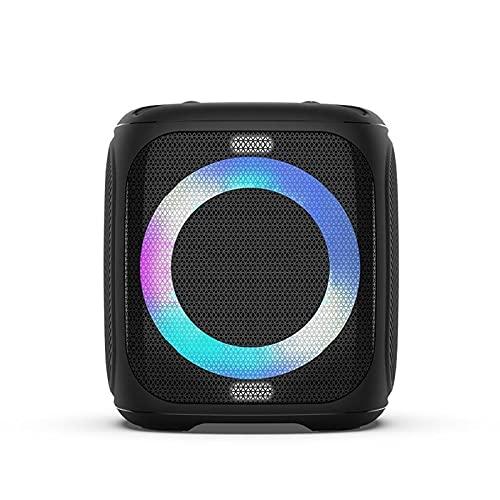 Altavoz Bluetooth, bajo 50W Super Punchy Bass, con micrófono Portátiles de altavoces inalámbricos, color mixto DIRIGIÓ Luces, 10000 mah Batería, Bluetooth 5.0, USB Reproducción, fuerte para fiesta