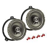 tomzz Audio 4004-000 Lautsprecher Einbau-Set passend für BMW 3er E46 165mm Koaxial System TA16.5-Pro