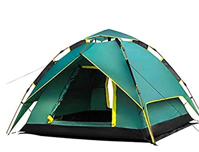 TVETGT Tent Camping Tents Tent Double Layer Gazelle Camping Tent Fully Automatic Tent Travel Tent Real Double Layer +Gift Camping mat