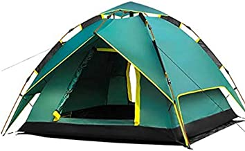 TVETGT Tent Camping Tents Fully Automatic Tent Speed Open Tent Camping Travel Tent Real Double Layer +Gift mat
