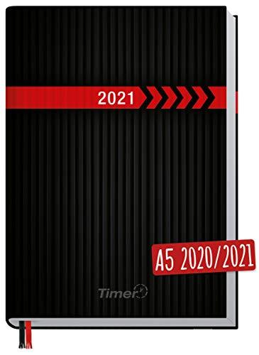 Chäff-Timer Classic A5 Kalender 2020/2021 [schwarz-rot] Terminplaner 18 Monate: Juli 2020 bis Dez. 2021 | Wochenkalender, Organizer, Terminkalender mit Wochenplaner - nachhaltig & klimaneutral