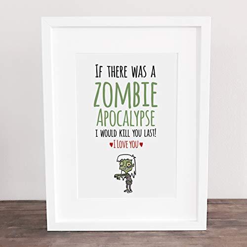 Poster, Wanddeko, Bild, Kunstdruck, Valentinstag, Liebe, Love, Zombie