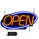 VEVOR Sign Open 24x11.8 inch Neon Open Sign 30W Led Open Sign Vertical Sign Open with 24 inch Hanging Chain and Power Adapter Bright Light for Business Outdoor