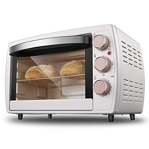 Life Accessories Multi function bread baking machine oven 20L capacity 1200W with grilled mesh enamel baking tray and tray holder white