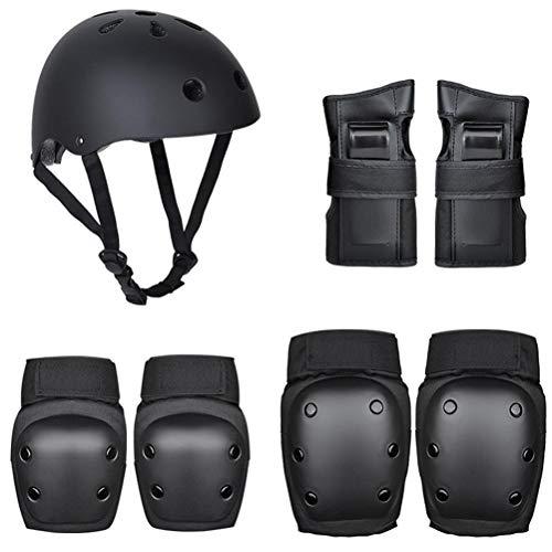 Juego de 7 almohadillas protectoras para monopatín, rodilleras, coderas y casco de monopatín, para ciclismo, ciclismo y deportes múltiples
