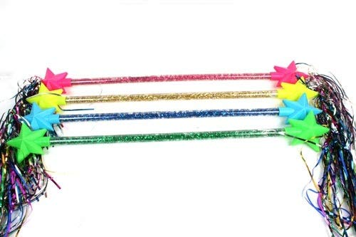 COOLMP Lot de 3 - Bâton Majorette étoile 58cm Mix