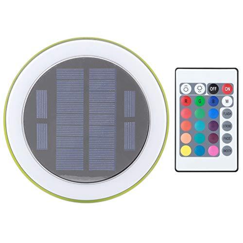 eecoo LED Unterwasserlicht, 24 LEDs Solarbrunnen Poolleuchte im Freien mit Fernbedienung, IP68 RGBW Poolleuchte für Pool, Brunnen, Aquarium, Landschaftsbeleuchtung