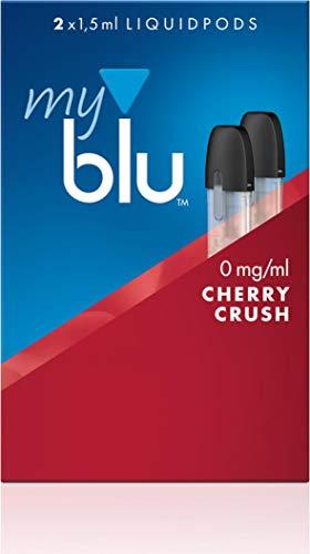 Podpack für elektrische Zigarette myblu + original Soft Touch Pen/je 2 Liquidpods nikotinfrei mit aufregenden Geschmacksrichtung zur Auswahl (Cherry Crush)