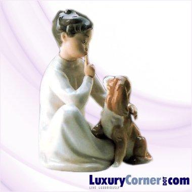 LLADRO BOY WITH DOG 01004522