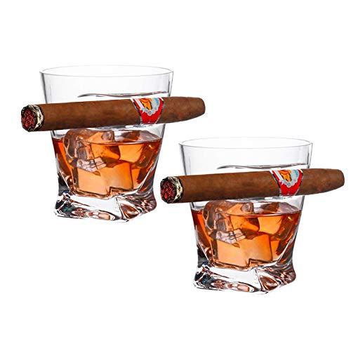 Cigar Whisky Vaso, Wiskey Conac Brandy Cristal Doble Antiguo, Pasado De Moda...