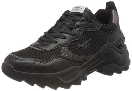 Pepe Jeans London Eccles Black Zapatillas para Mujer , Negro ( 999BLACK ) , 36 EU