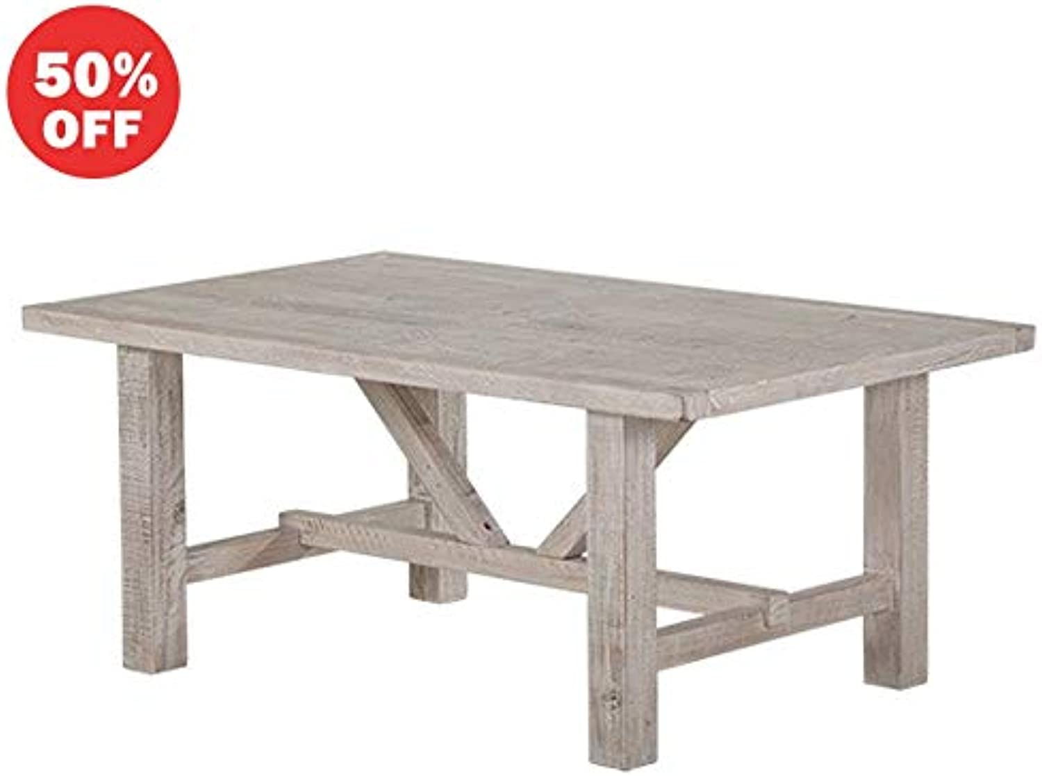 Byron Indoor Timber Coffee Table in White Wash, White Wash - Tables, Bay Gallery Furniture