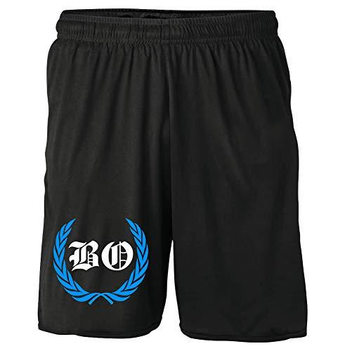 Bochum Kranz Shorts | Fussball Sport Ultras Kurze Hose Sporthose (XL, Bochum Kranz M1)