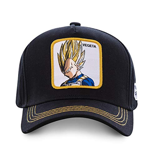 Capslab Gorra Trucker Negra Vegeta Super Saiyan VE4 Dragon Ball