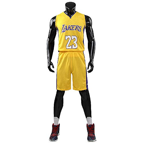 unbrand Adulti Cleveland Cavaliers Lebron James # 23 Pantaloncini da Basket Maglie estive Completo da Basket Top & Short