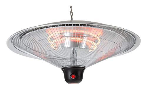 Accesorio de iluminación Calentador para montaje en techo IP34 Calentador infrarrojo DH-2000R Luz del calentador de techo con la potencia 2000 W - 3 Niveles de potencia - Control remoto - Salpicaduras