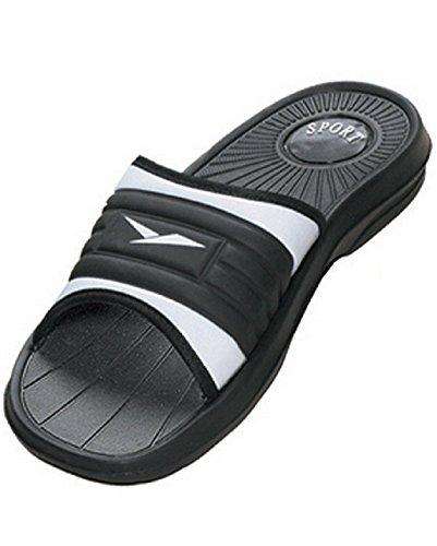 Price comparison product image ICS Men's Rubber Slide Sandal Slipper Comfortable Shower Beach Shoe Slip On