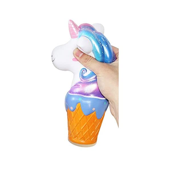 YXJC Fun Toys Squishies, Unicorn ice Cream Squishy, Creamy Aroma Slow Rising Squeeze Toys for Stress Relief (Color : Starry Sky) 4