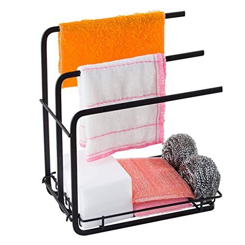 Haushalt Küche Lagerung Lappen Rack Lappen Multifunktions stanzfreie Arbeitsplatte vertikale Lappen Rack schwarz YGDH (Size : 21cm×12cm×25cm)