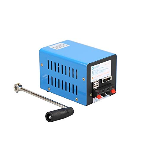 Tomshin Gerador de manivela manual portátil multifuncional externo de 20 W Fonte de alimentação de sobrevivência de emergência