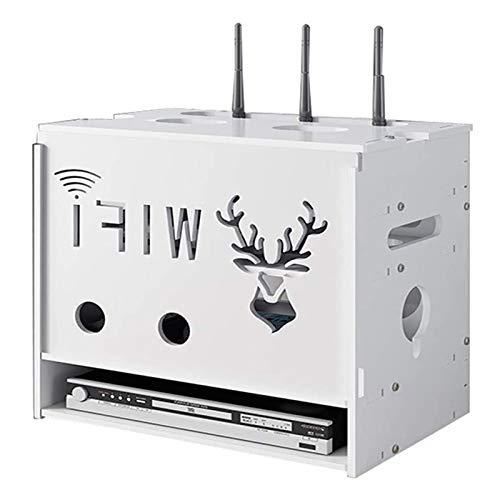TRFBC Router WiFi Caja de Almacenamiento Decorativo Multicapa de Acabado Cuadro Set-Top Caja Estante Organizador para El Hogar Y La Oficina
