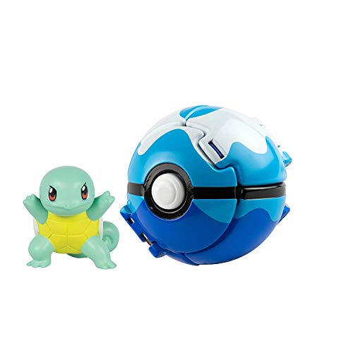 Pokemon Throw 'n' Pop Pokémon-Ball, Squirtle and Dive Ball Action Figur Toy for Kids